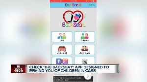 News video: New app helps people remember kids are in the car