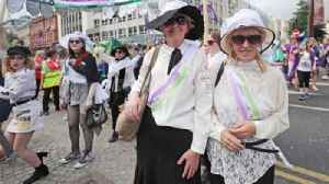 News video: Women in the UK march to celebrate suffrage