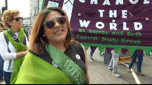 UK: Tens of thousands march to mark 100 years of women's suffrage [Video]