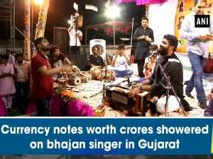 Currency notes worth crores showered on bhajan singer in Gujarat [Video]