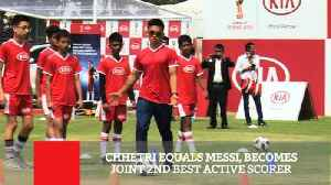 Chhetri Equals Messi, Becomes Joint 2Nd Best Active Scorer