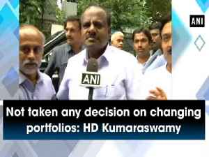 News video: Not taken any decision on changing portfolios: HD Kumaraswamy