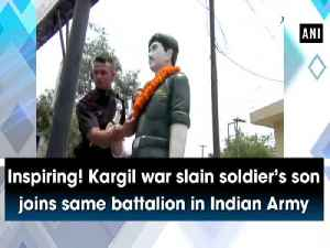 News video: Inspiring! Kargil war slain soldier's son joins same battalion in Indian Army