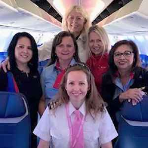 News video: First All-Woman Crew On Southwest Flight Makes History