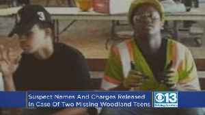 News video: Names Of Suspects Arrested In Case Of Missing Woodland Teens Released; All Face Murder Charges