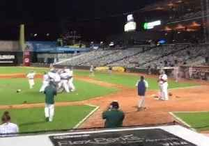 News video: Pitcher Rushes to Consoles Losing Friend After Striking Him Out For Championship Win
