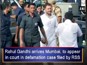 News video: Rahul Gandhi arrives Mumbai, to appear in court in defamation case filed by RSS