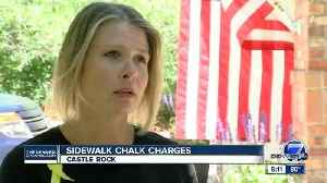 News video: Woman faces jail time after chalk protest in front of Rep. Ken Buck's Castle Rock office