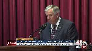News video: New Gov. Parson: 'Time for a fresh start' in MO