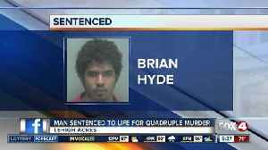 News video: Man gets life sentence for killing family with machete