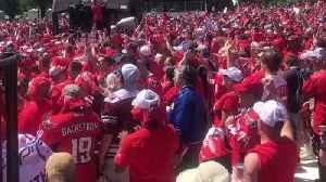 Caps Fans Sing 'We Are The Champions' at National Mall Homecoming