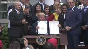 President Trump Signs VA Mission Act of 2018 [Video]