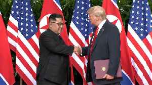 News video: Trump and Kim say goodbye at end of summit