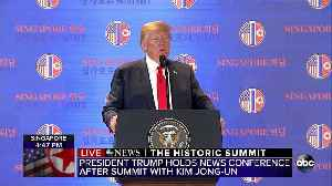President Trump holds news conference after summit with Kim Jong Un