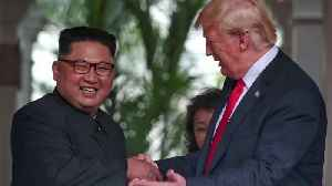 Make Us Look 'Nice and Handsome and Thin,' Trump Says as Kim Jong Un Looks Unamused