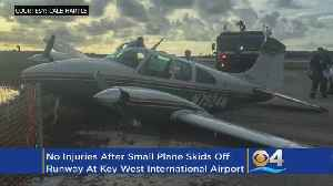 News video: Small Plane Skids Off Runway At Key West Airport
