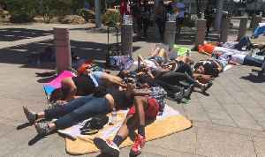 Students participate in National Die-In Day protest at Las Vegas City Hall