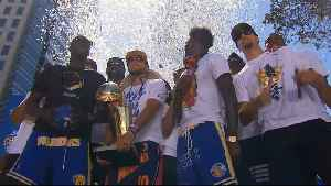 Raw Video: Warriors Pose For Team Pic During Championship Rally