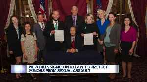 News video: Statute of limitation on sexual assault extended under new Michigan laws