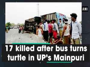 17 killed after bus turns turtle in UP's Mainpuri [Video]