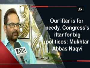 Our iftar is for needy, Congress's iftar for big politicos: Mukhtar Abbas Naqvi