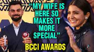 Virat Kohli THANKS Wife Anushka Sharma On Winning Best Player Award At BCCI Awards 2018 [Video]