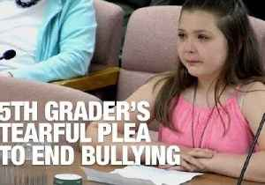 News video: Tearful Fifth Grader Tells School Board a Bully Threatened to Shoot Her