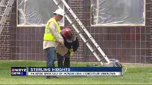 News video: Painter in hospital after suffering severe shock on job