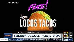 News video: Wednesday: Score a free Doritos Locos Taco from 2 p.m. to 6 p.m. at Taco Bell
