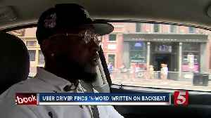 News video: Uber Driver Has 'N-Word' Written On Back Of Seat