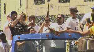 News video: Hundreds of Thousands Celebrate NBA Champion Warriors at Oakland Parade