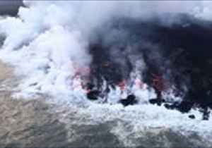 News video: Streams of Lava Continue to Follow Into Ocean Off Hawaii