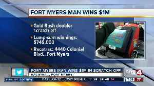 Fort Myers man wins $1 million on Florida Lottery scratch-off ticket
