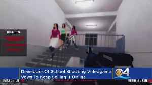 News video: Developer Defends School Shooting Game As Victims Complain