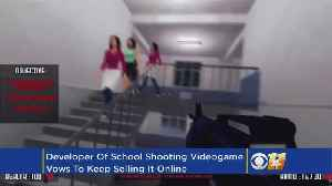 News video: Developer Defends School-Shooting Video Game As Victims Complain