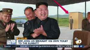 News video: Kim Jong Un brings his own toilet?
