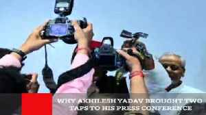 Why Akhilesh Yadav Brought Two Taps To His Press Conference [Video]