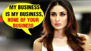 News video: Kareena Kapoor Says Her Time With Taimur Is None Of Anyone's Business