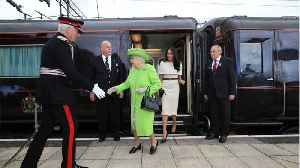 News video: Meghan Markle Wears Givenchy Again On First Solo Outing With The Queen
