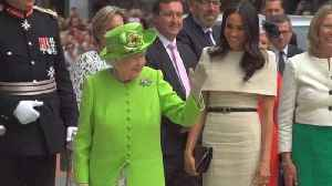 News video: Meghan Markle and Queen Elizabeth Share First Official Engagement Together