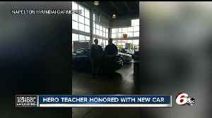 Carmel car dealer presents Jason Seaman with car, will donate $25 from every sale to Ella Whistler