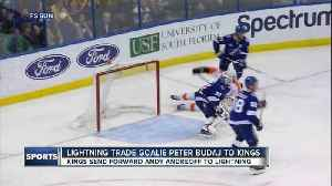 News video: Tampa Bay Lightning trade goaltender Peter Budaj to Los Angeles Kings for forward Andy Andreoff