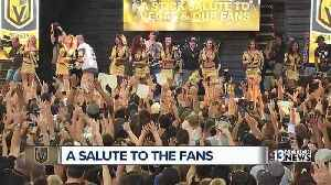 Vegas Golden Knights hold event to thank fans in downtown Las Vegas [Video]