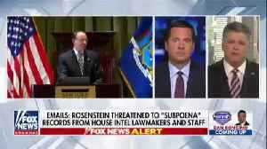 Nunes: Staff Definitely felt threatened over Rosenstien