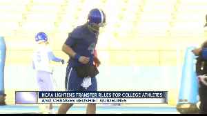 News video: NCAA D-I Eases Up On Transfer Restrictions and Redshirt ruling