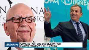 News video: How Will Disney Respond to Comcast's Fox Bid?