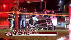News video: 1 dead, 1 injured after car crashes into tree on Milwaukee 's north side