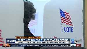 Maryland primary elections' early voting runs June 14 through June 21 [Video]