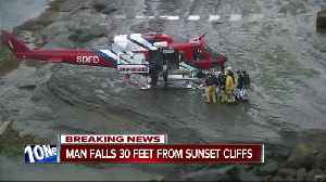 News video: Man injured in fall at Sunset Cliffs