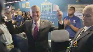 News video: Gov. Murphy Places First Sports Bet In NJ